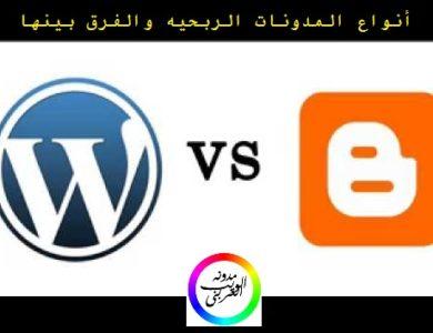 الفرق بين انواع المدونات الربحيه