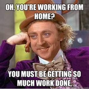 انت تعمل من المنزل اذا